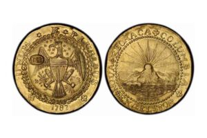 Brasher Doubloon, EB on breast