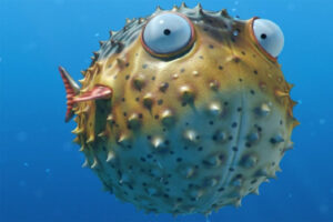 pufferfish-romantic-animals
